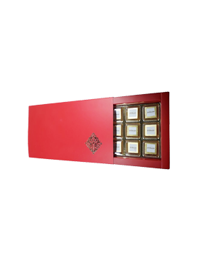 Premium Red Floral Printed Chcocolate Gift Box